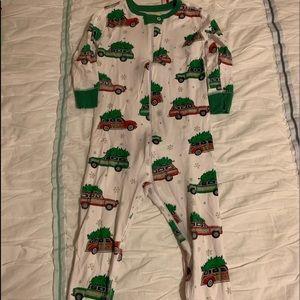 TBBC Christmas woody wagon pajamas